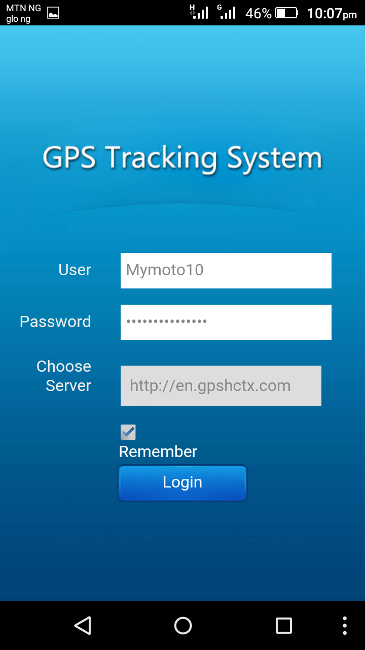GPS Tracking Android App (iOS version also available